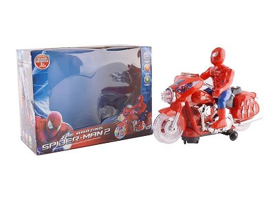 Spider-Man B/O Go and Bump Motorcycle With Light And Music