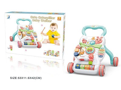 Cute Caterpillar Baby Walker With Light