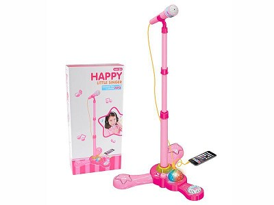 Girl Microphone Karaoke With Light And Music