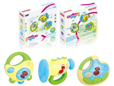 Baby Horn  Musical Instrument 3 In 1