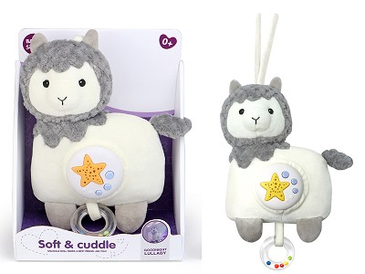 Plush Alpaca With Projection