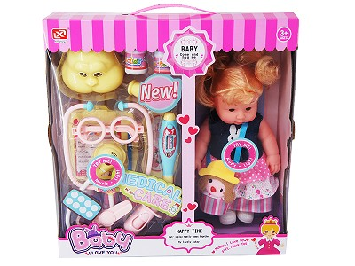 27CM Doll With Function   Doctor Set With Sound And Light