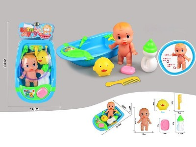 Baby Bath   Doll Set