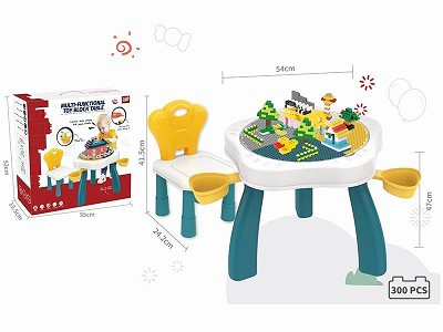 Building Blocks Table   Chair(With 300pcs Building Blocks )