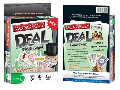 Monopoly Cards Game