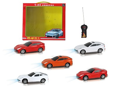 1:24 Two Wwireless Simulation Ferrari Remote Control Car With Light(Chinese)
