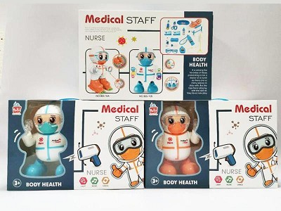 Medical  Staff B/O Dancing Robot  Doctor Set(With Light And Music)
